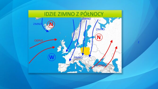 Do Polski napłynie chłodne powietrze z północy