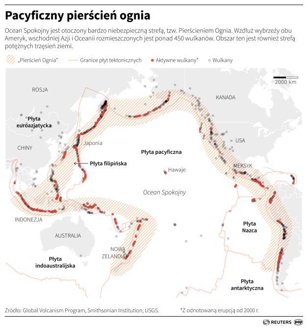 Pacyficzny pierścień ognia (Maciej Zieliński/PAP/Reuters)