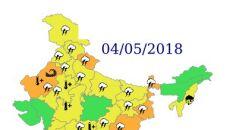 Ostrzeżenia przed niebezpiecznymi zjawiskami nad Indiami - 4 maja (IND)