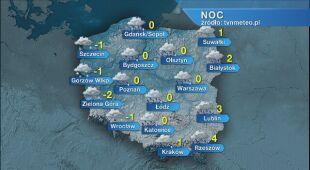 Prognoza pogody na noc 24/25.01