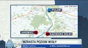 Zator lodowy grozi Kazimierzowi Dolnemu (TVN24)